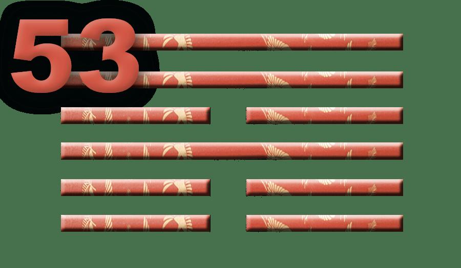 Гексаграмма 53: Течение