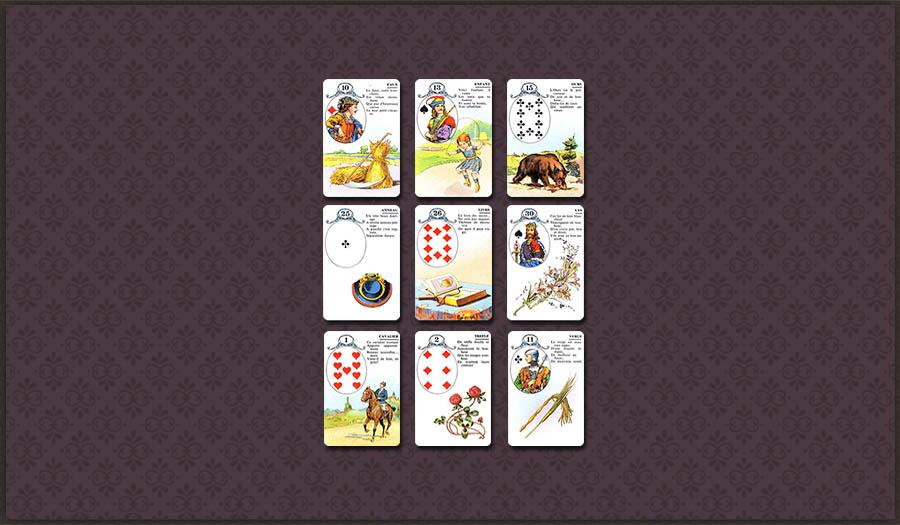 Гадание Ленорман на ситуацию 9 карт